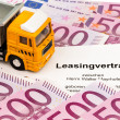 Lease agreement for new trucks — Stock Photo #26173085