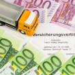 Stock Photo: Vertsicherungsvertrag for new trucks
