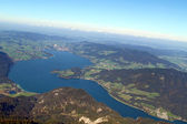 Austria, view from sheep mountain, mondsee — Stock Photo