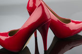 Red high heels — Stock Photo