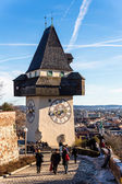 Austria, styria, graz clock tower — Stock Photo