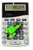 Tractor and calculator — Stock Photo
