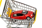 Car in cart — Stock Photo