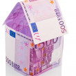 House made of euro banknotes — Stock Photo