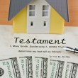 Dollar bills and english testament — Stock Photo #27159067