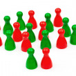 Red-green coalition government — Stock Photo #27159133
