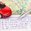 Stock Photo: Logbook for car