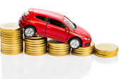 Declining profits in the motor trade — Stock Photo