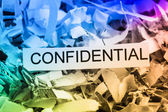 Shredded paper confidential — Stock Photo