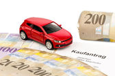 Contrato de compra de coche nuevo — Foto de Stock