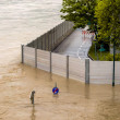 Flood, 2013, linz, austria — Foto de Stock