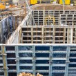 Construction site, basement, formwork — Stock Photo #27304051