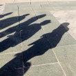 Stock Photo: Shadows of
