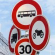 Stock Photo: Various road signs,
