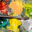 Color palette of a painter, background — Stok fotoğraf
