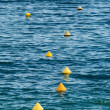 Buoys as a guide — Stock Photo