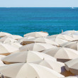 Stock Photo: Many umbrellas on beach