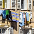 Washing on the line — Stock Photo