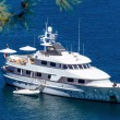 Stock Photo: Motor yacht on sea,