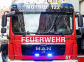 Vehicle of the fire brigade — Stock Photo