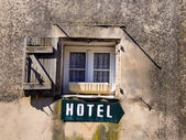 Schild hotel — Stock Photo