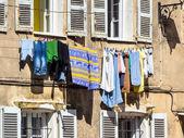 En la línea de lavado — Foto de Stock