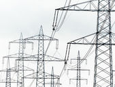 Current keys of a power line — Stock Photo