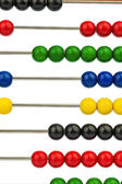 Abacus with colored beads — Stock Photo