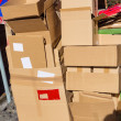 Waste paper from cardboard boxes — Stockfoto