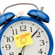 Stock Photo: Alarm clock on vacation beginning