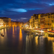 Venice. grand canal at night — Stok fotoğraf