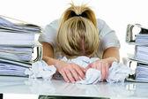 La desesperación por la burocracia — Foto de Stock