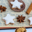 Baking for christmas — 图库照片