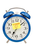 Alarm clock on vacation beginning — Stockfoto