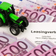 Lease agreement for new tractor — Stock Photo #33347759