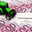 Lease agreement for new tractor — Stock Photo