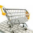 Shopping cart keyboard — Stock Photo