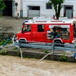 Flood in 2013 in steyr, austria — Stockfoto
