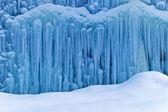 Zmrazené vodopád v zimě — Stock fotografie