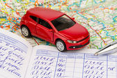 Logbook for car — Stock Photo