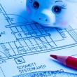 Blueprint of a house. construction — Foto Stock