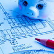 Blueprint of a house. construction — Stockfoto