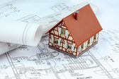 A house plan — Stock Photo