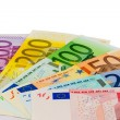 Many different euro bills — Stock Photo