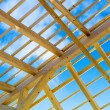 Wooden roof construction — Stock Photo