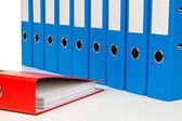 Carpeta con documentos y documentos — Foto de Stock