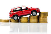 Costs of a car — Stock Photo