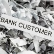 Stock Photo: Shredded paper bank customer
