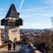 Stock Photo: Austria, styria, graz, clock tower