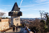 Austria, styria, graz, clock tower — Stock Photo
